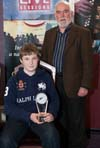 Junior Winner of the Fiddler of Dooney Competition 2011 Darragh Curtin & Martin Enright, Chairperson, Sligo Town Branch CCE