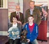 Senior winner Darragh Curtin & Family with competition organisers - Fiddler of Dooney Competition 2014