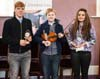 Junior competition winners Brendan Martin, Senan Moran & Laura O'Donoghue - Fiddler of Dooney Competition 2014